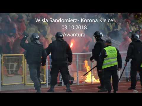 Wisla Sandomierz- Korona Kielce  03.10.2018 (Doping+Awantura)