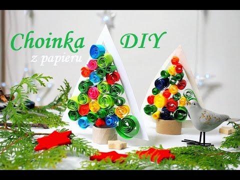 Choinka Z Papieru 3d Dekoracje Na Boże Narodzenie Prace Plastyczne Zima Moje Dzieci Kreatywnie