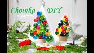 Choinka z papieru 3D, dekoracje na Boże Narodzenie, prace plastyczne zima, moje dzieci kreatywnie.