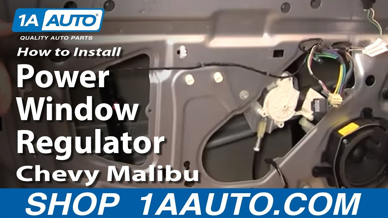 how to replace window regulator 04 08 chevy malibu youtube. Black Bedroom Furniture Sets. Home Design Ideas