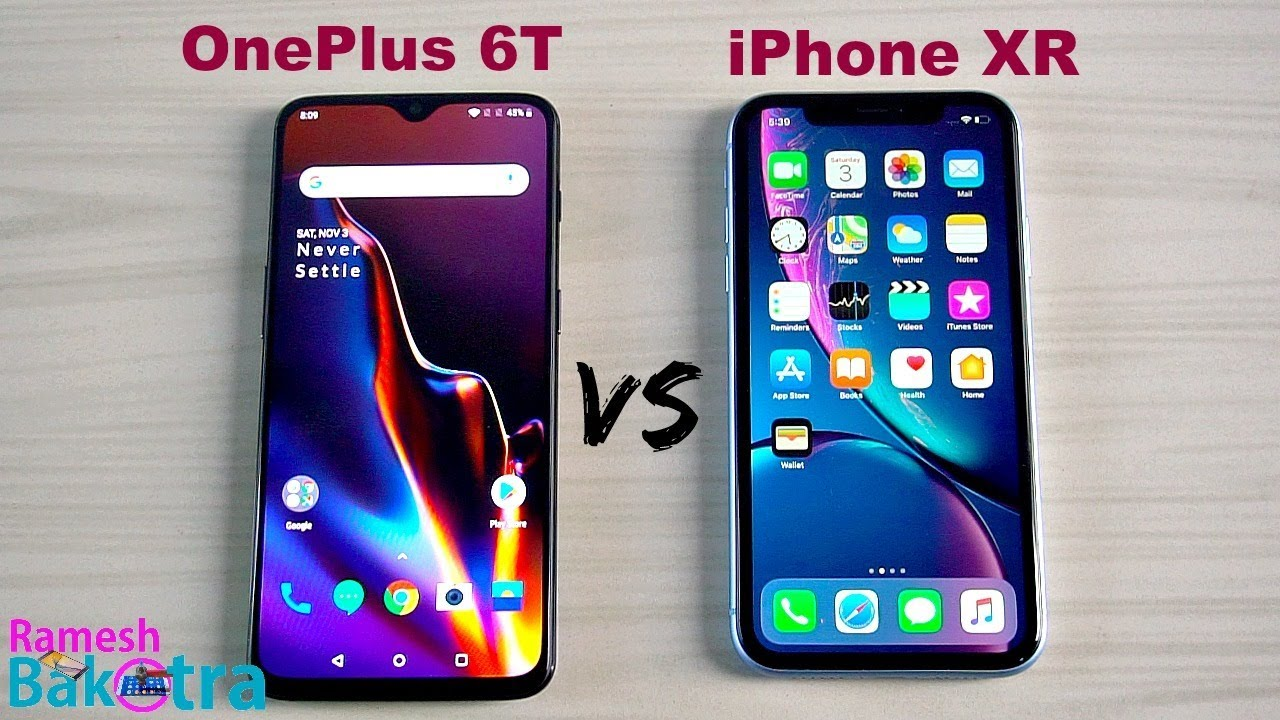 online store 24ba3 6595b OnePlus 6T vs Apple iPhone XR SpeedTest and Camera Comparsion