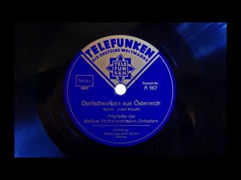 Berliner Philharmonisches Orchester - Dorfschwalben aus Österreich - 1930