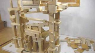 Marble run toy blocks
