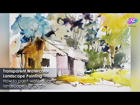 Transparent Watercolor Landscape Painting | Art Explain | EP 29 S 1