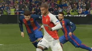 Mbappé vs FC Barcelone Champions League Fifa 16 Difficulté Légende Gameplay PC