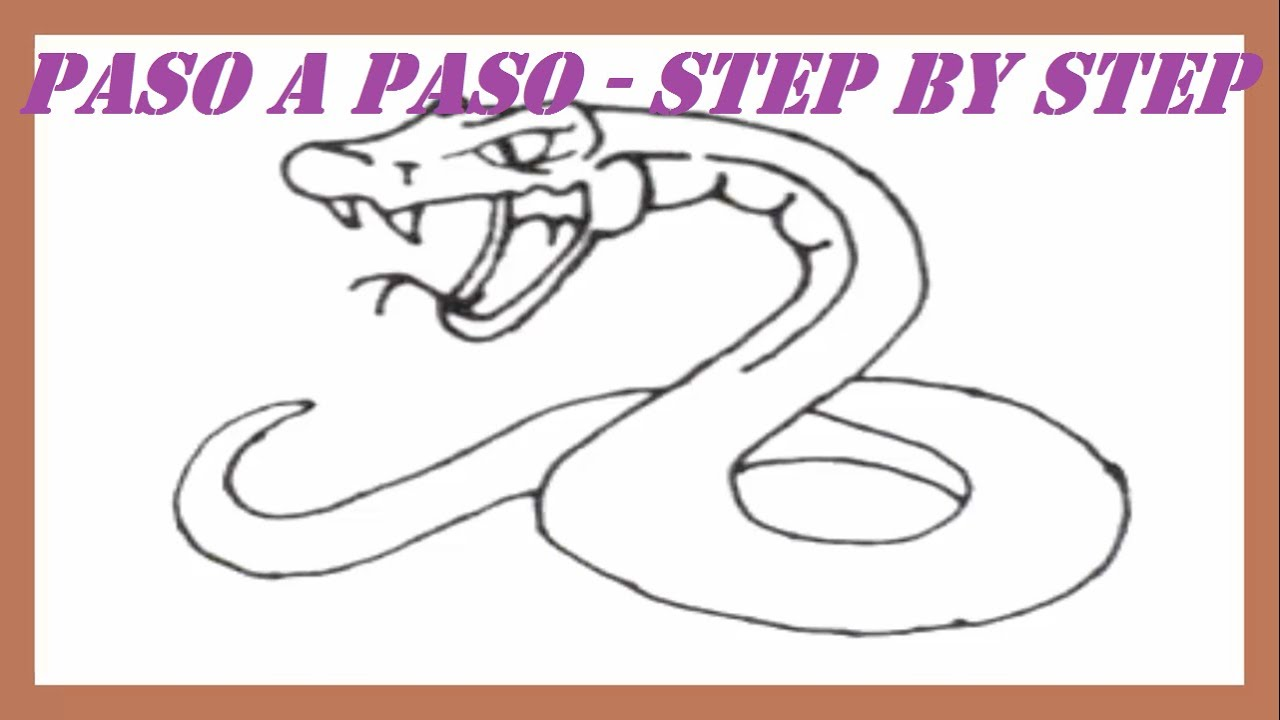 Como dibujar una Serpiente paso a paso l How to draw a Serpent step ...