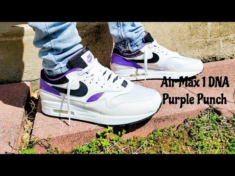 nike air max 1 dna ch.1 pack 'huarache - purple punch'