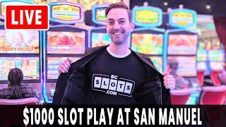 🔴 LIVE $1000 😱 Slot Machines 🍀 San Manuel Casino #AD