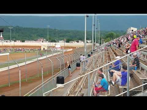 Ryan Quackenbush URC hot laps Port Royal Speedway July 4th 2018