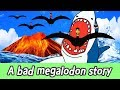 [EN] A bad megalodon story, animation for kids, animal namesㅣCoCosToy