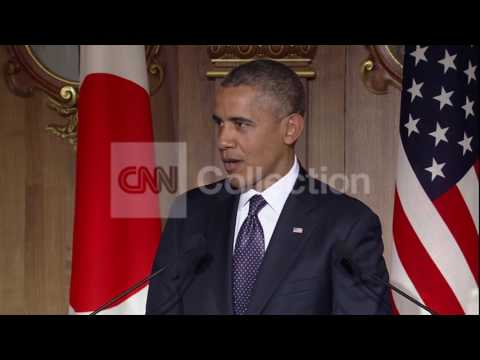 OBAMA IN JAPAN-TALKS RUSSIA AND SANCTIONS