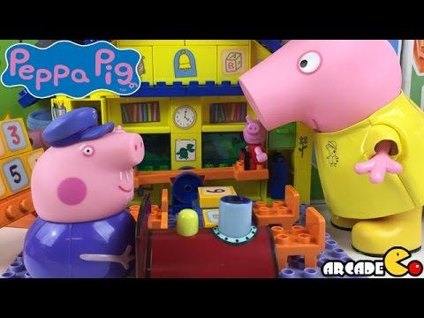 Peppa Pig: Nickelodeon Animated Cartoon Peppa Pig Toy Peppa and George School Time