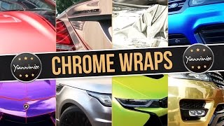 Chrome Wrap Cars Compilation