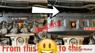 How to change engine cover for Honda Civic FD to Civic FB