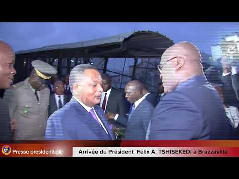 Arrivée du président Félix Antoine TSHISEKEDI  A BRAZZAVILLE