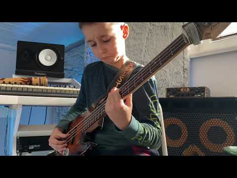 (10yrs) AronTheBassist goes OFF🔥 over Yung Bleu ft. Drake – You're Mine Still (bass cover)