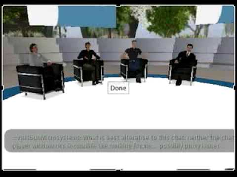 Second Life Panel Discussion: Sun's 3rd generation CMT Systems