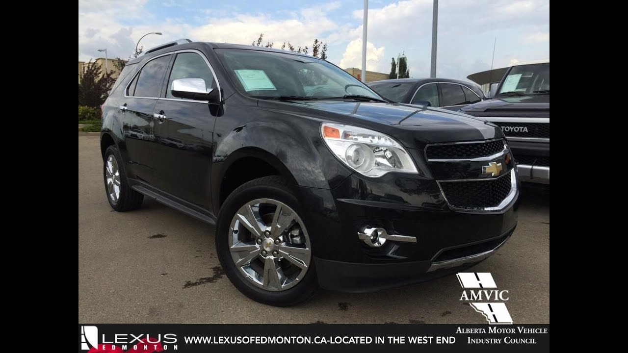 Used black 2012 chevrolet equinox awd ltz in depth review airdrie alberta