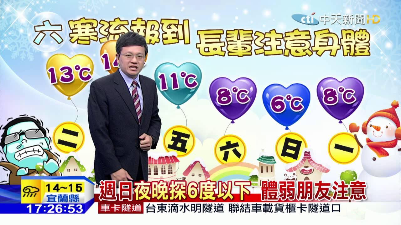 20160118中天新聞 冷氣團影響 天氣寒冷 穿著保暖 - YouTube