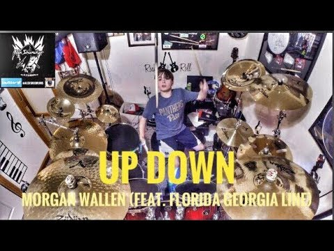 Alex Shumaker 11 year old drummer Up Down Morgan Wallen Feat Florida Georgia Line