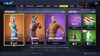 *NEW* FORTNITE ITEM SHOP COUNTDOWN! December 25th - New Skins! - Fortnite Battle Royale