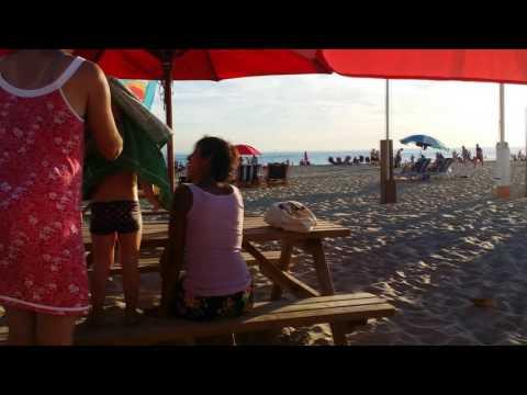 North sea coast in the Netherlands, the beach, the sun
