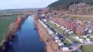 Lucksall caravan site river Wye Herefordshire,uk