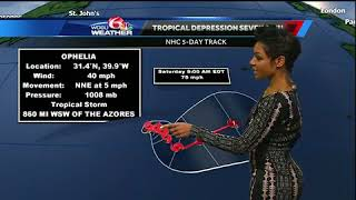 Tracking the Tropics for Oct. 9, 2017: Tropical Storm Ophelia forms