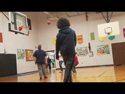 Hoop Shooting Before Unified Basketball Season 6 In Tiverton Middle School In Tiverton, Rhode Island