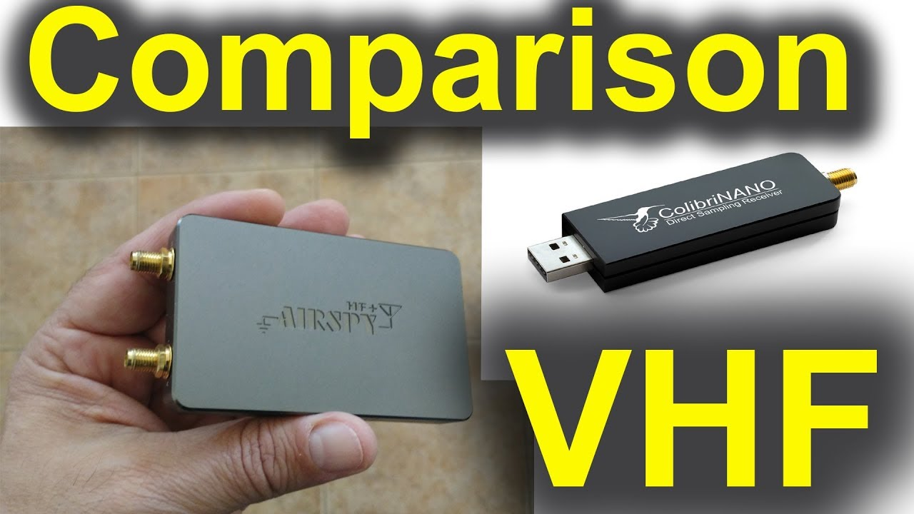 Airspy HF+ SDR vs ColibriNANO SDR on VHF
