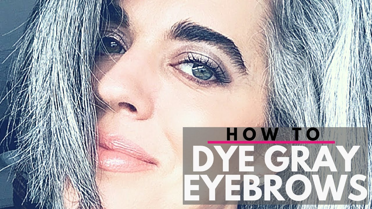 How To Dye Gray Eyebrows Diy Nikol Johnson Youtube
