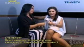 Intip CD Krisdayanti Saat Live Report Dirumpiin Melanie Ricardo Di Acara Rumpi TTV  (27/01/17)
