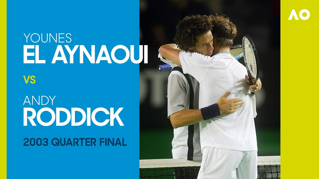 Younes El Aynaoui vs Andy Roddick in a five-set, five-hour epic! | Australian Open 2003 Quarterfinal