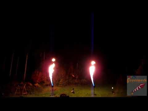 Flammenshow Tron