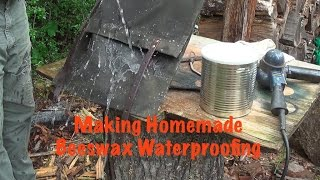 Homemade Beeswax Waterproofing