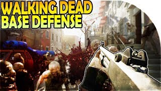 *NEW* THE WALKING DEAD GAME - BASE HORDE DEFENSE + BANDIT CAMP ATTACK (OVERKILL's The Walking Dead)