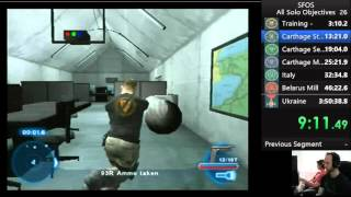 Syphon Filter: The Omega Strain - All Solo Objectives: Old World Record 3:35:43