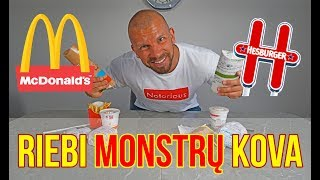 MC'DONALDS vs HESBURGER | RIEBALŲ KOVA