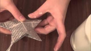 Ёлочная игрушка своими руками.3D звезда.