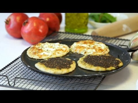 Suzanne's Kitchen: Manaqeesh Zaatar And Jibneh (Flatbread With Dry Thyme And Cheese)