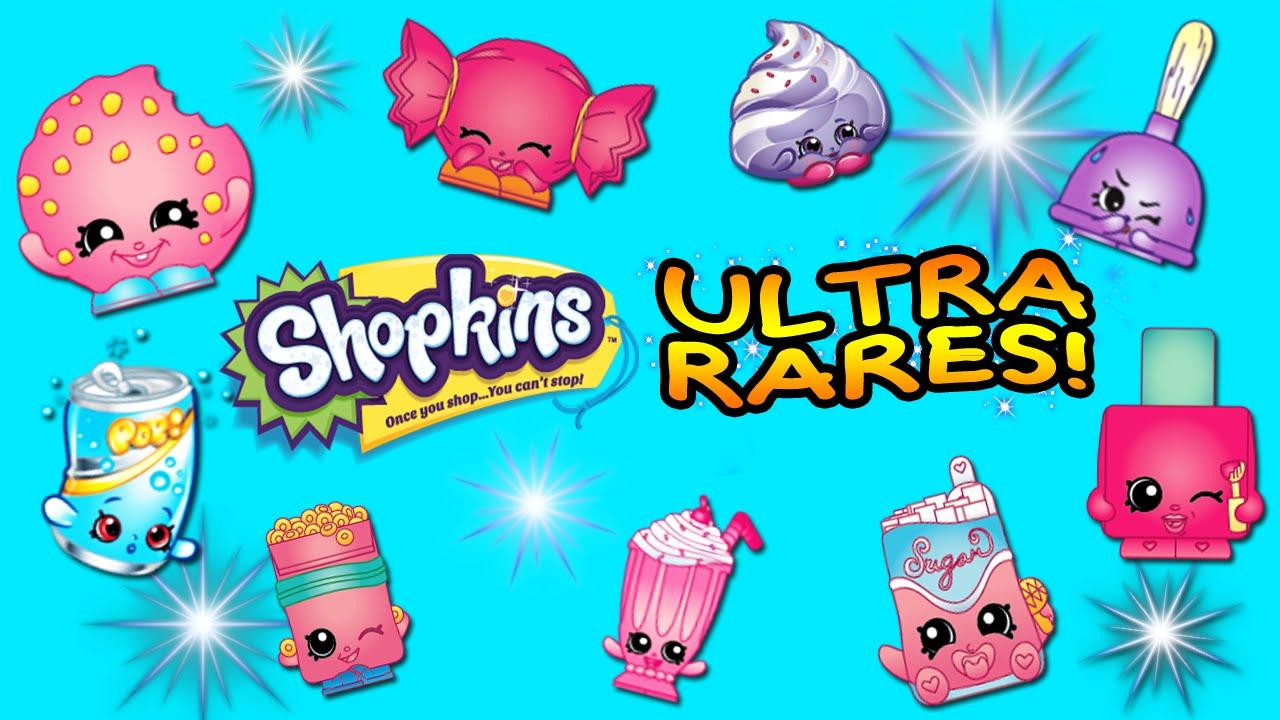 Shopkins Season 2 ULTRA RARE Sweeps set with Bag!