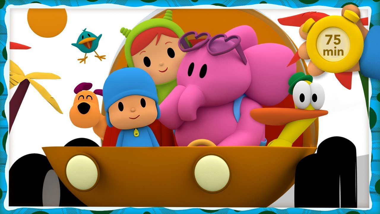🚘 POCOYO AND NINA - Driving in my car [75 minutes] | ANIMATED CARTOON for Children | FULL episodes
