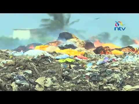 Mombasa residents protest over garbage dumping in the coastal city