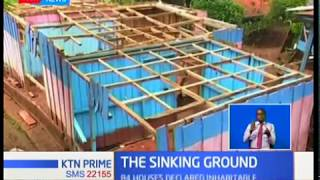 Murang'a residents living in fear as the ground has started caving in without warning