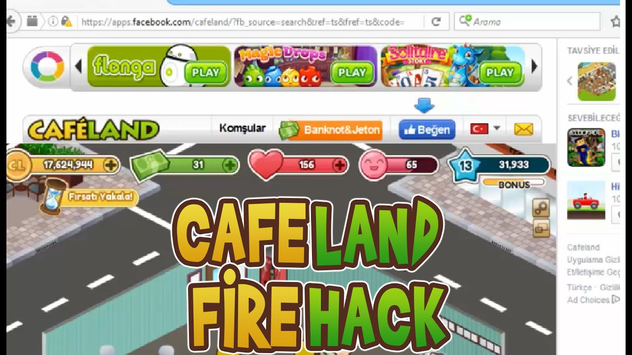 cafeland unlimited cash and coins hack