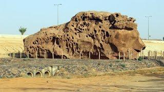 تشويه صخرة عنترة يحرج المرشدين السياحيين في القصيم
