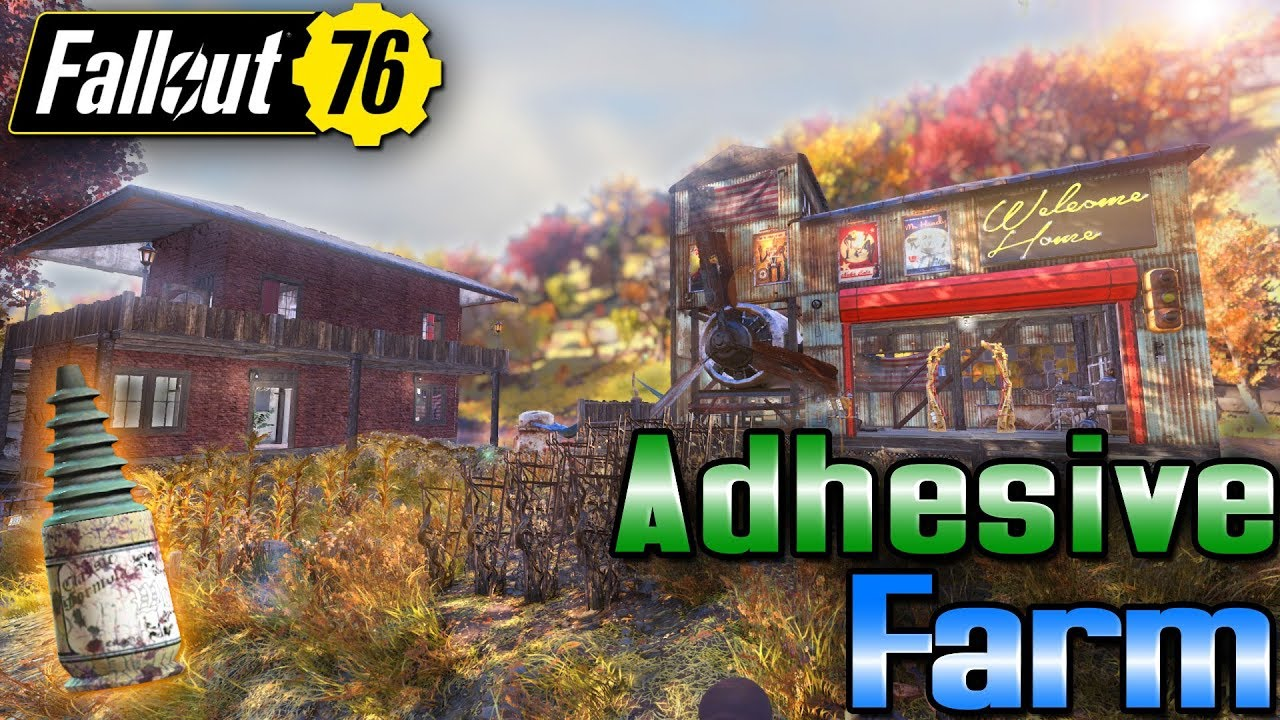 UNLIMITED ADHESIVE in camp - #Fallout76