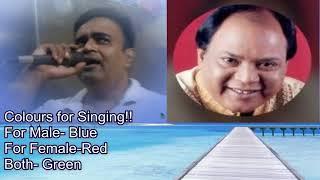 Darde dil jeene ka marne ka karaoke only for male singers by Rajesh Gupta