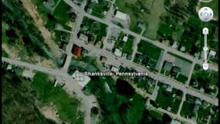 Google Earth - Shanksville, PA, and Flight (united) 93 crash site 9/11
