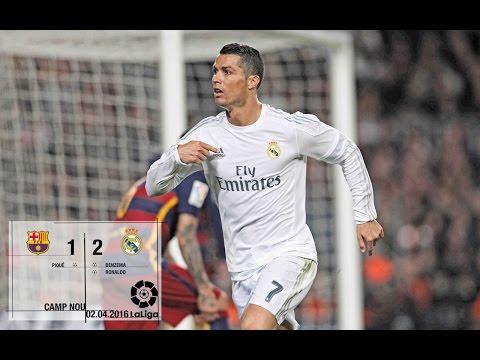 Barcelona 12 Real Madrid La Liga 201516, matchday 31